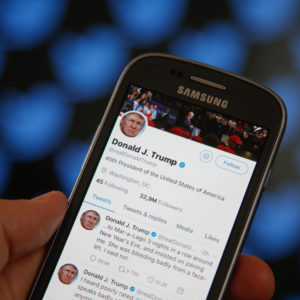 The Twitter timeline of US president Donald Trump is seen on 29 June, 2017, in Bydgoszcz,Poland  after he insulted TV show host Mika Brzezinski on the platform claiming he was bullied by Mrs. Brzezinski and her co-hosts on their show Morning Joe on MSNBC. (Photo by Jaap Arriens/NurPhoto)