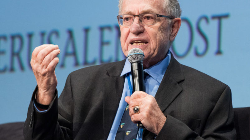 UNITED STATES - 2017/05/07: Alan Dershowitz, Felix Frankfurter Professor of Law Emeritus at Harvard, at the Jerusalem Post Annual Conference in New York City. (Photo by Michael Brochstein/SOPA Images/LightRocket via Getty Images)