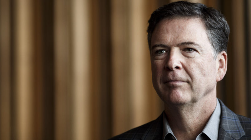 Former FBI director Comey on Twitter: Vote Democratic