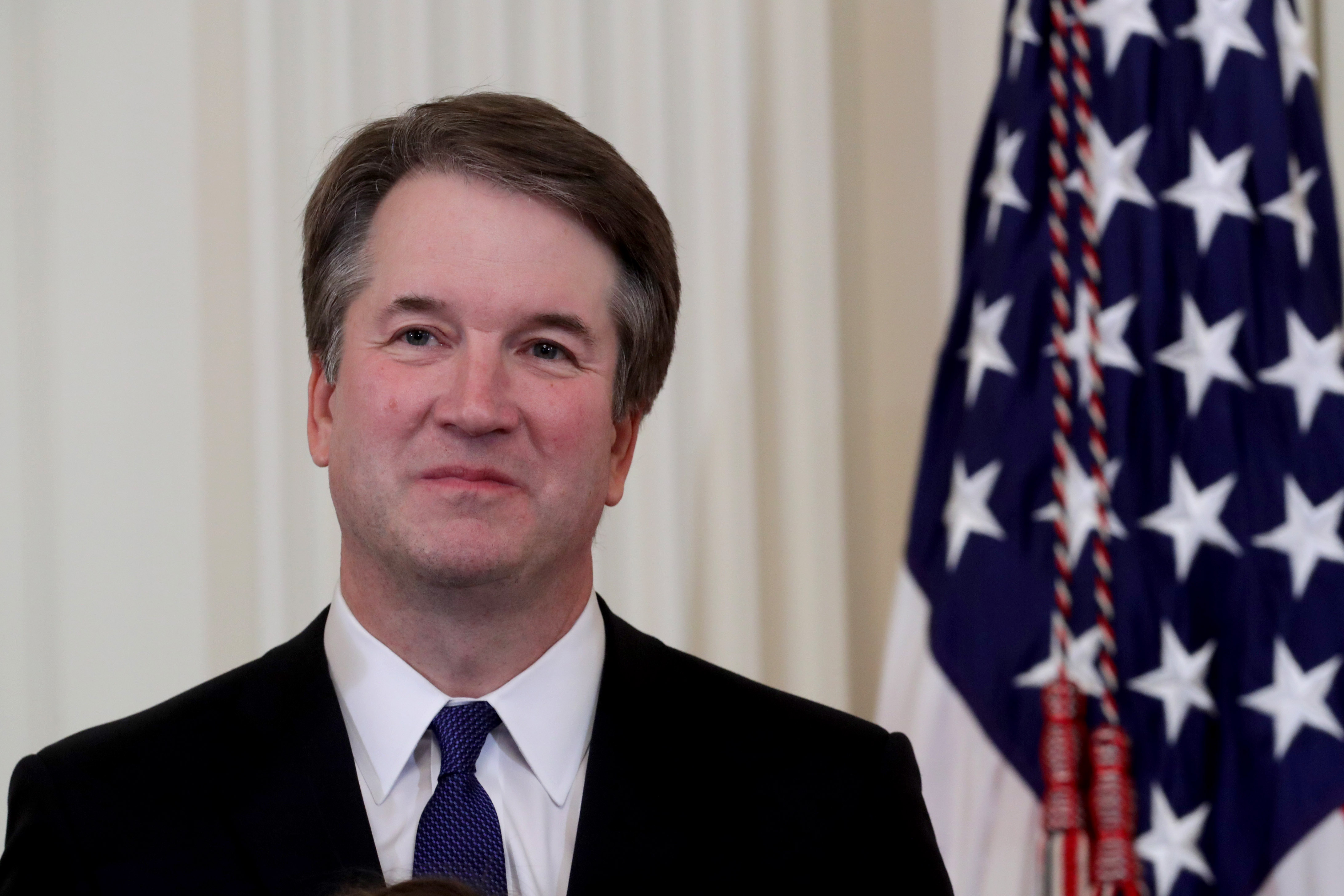 WASHINGTON, DC - JULY 09: U.S. President Donald Trump introduces U.S. Circuit Judge Brett M. Kavanaugh as his nominee to the United States Supreme Court during an event in the East Room of the White House July 9, 2018 in Washington, DC. Pending confirmation by the U.S. Senate, Judge Kavanaugh would succeed Associate Justice Anthony Kennedy, 81, who is retiring after 30 years of service on the high court. (Photo by Chip Somodevilla/Getty Images)