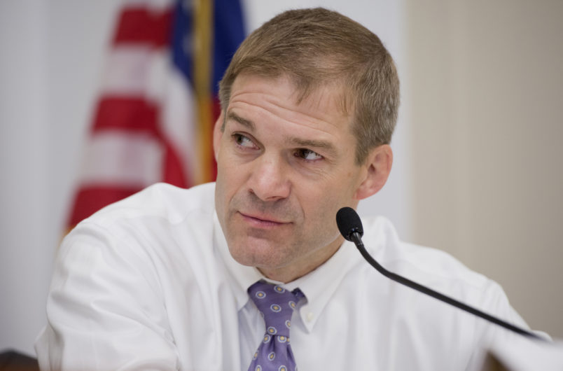 UNITED STATES - MAY 09:  Rep. Jim Jordan, R-Ohio, speaks at a forum in Rayburn called a Conversations with Conservatives to discuss issues including appropriations and the upcoming reconciliation package. (Photo By Tom Williams/CQ Roll Call)