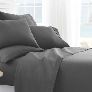 iEnjoy Home's Six-Piece Sheet Set is soft, smooth and won't hold in extra heat — sleeping in has never been so tempting.