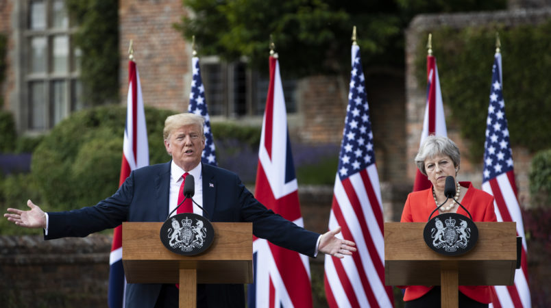 Trump ratchets up 'fake news' rally cry overseas during United Kingdom  visit