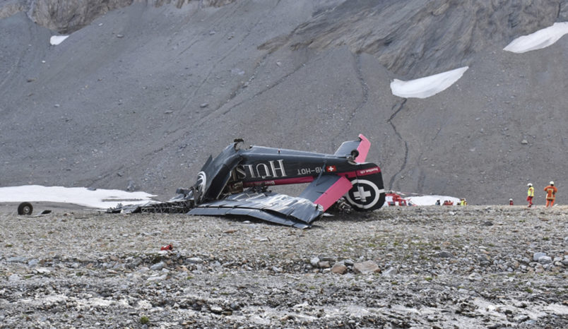 Switzerland crash: 20 dead in WW2 plane crash