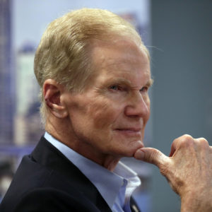 Sen. Bill Nelson, D-Fla., listens during a roundtable discussion with education leaders from South Florida at the United Teachers of Dade headquarters, Monday, Aug. 6, 2018, in Miami. (AP Photo/Lynne Sladky)
