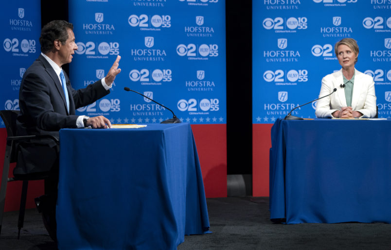 Cuomo And Nixon Campaigns Have Dueling Videos Ahead Of Hofstra Showdown