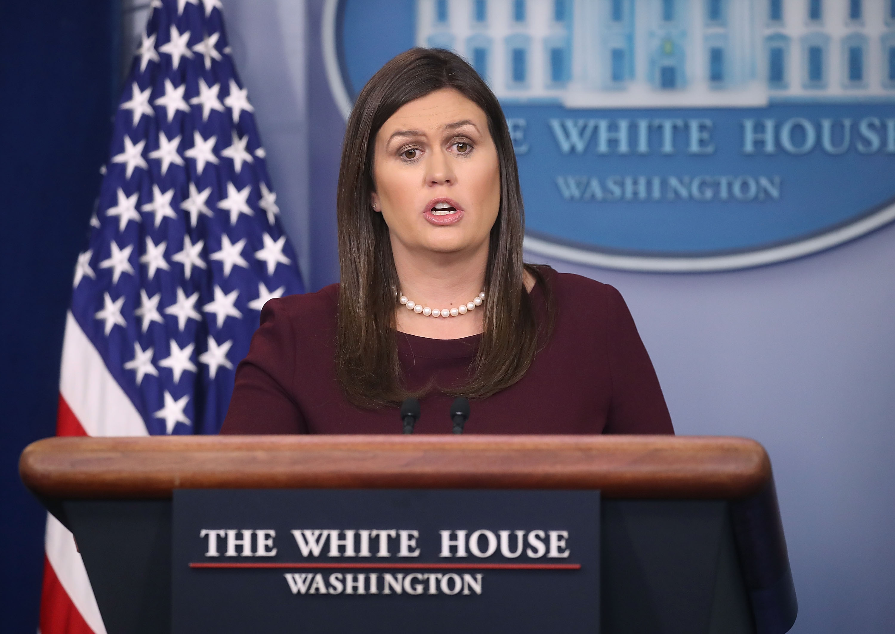 Sarah Huckabee Sanders 'Can't Guarantee' Trump 'N-Word Tape' Doesn't Exist