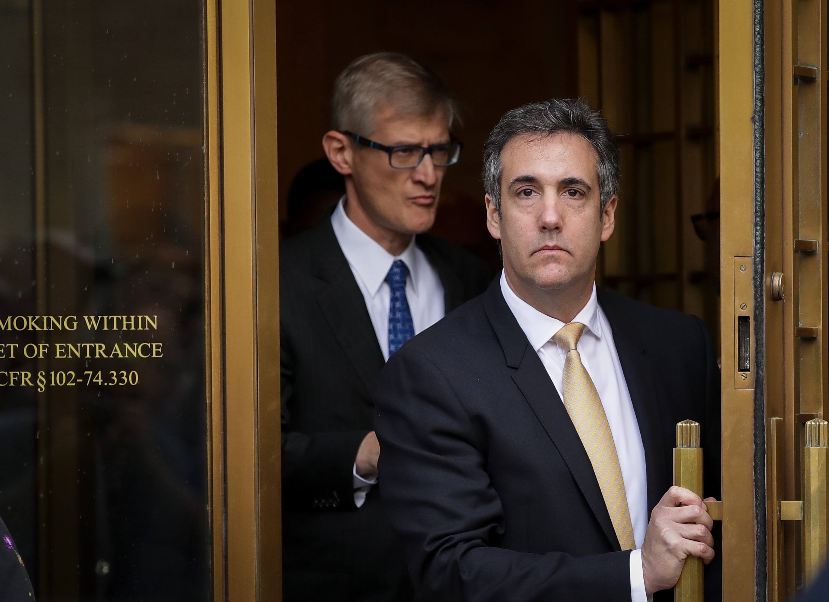 NEW YORK, NY - AUGUST 21: Michael Cohen, President Donald Trump's former personal attorney and fixer, exits federal court, August 21, 2018 in New York City. Cohen reached a plea agreement with prosecutors involving charges of bank fraud, tax fraud and campaign finance violations. (Photo by Drew Angerer/Getty Images)