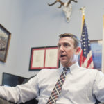 UNITED STATES - JANUARY 13: Rep. Duncan Hunter, R-Calif., is interviewed about his vaporizer pen in his Rayburn office, January 12, 2016. (Photo By Tom Williams/CQ Roll Call)