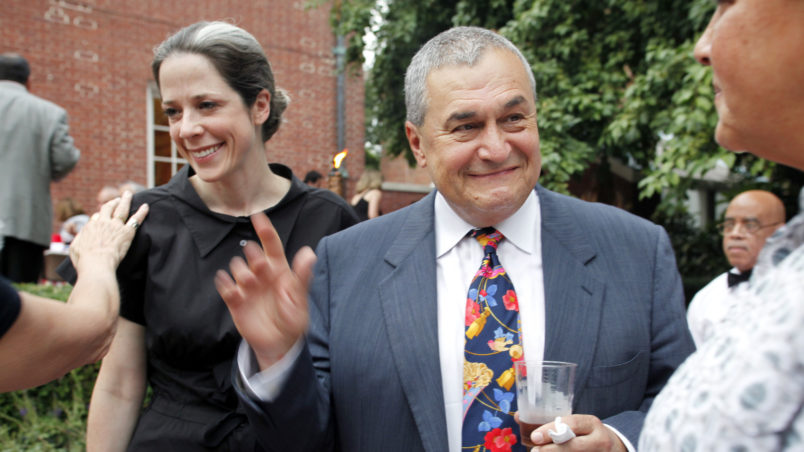 "WASHINGTON DC-August 2, 2011:  Heather and Tony Podesta (Chairman Podesta Group) attended the intimate ""Summer Chic"" barbeque at Esther Coopersmith's DC home to celebrate the recent marriage of lawyer Jack Einwechter to Congresswoman Loretta  Sanchez (D-CA))  (Photo by Rebecca D'Angelo/For the Washington Post)"