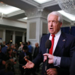 SAN DIEGO, CA-MAY 5: California GOP Gubernatorial Candidate John Cox speaks during an election eve party at the U.S. Grant Hotel in San Diego, California on Tuesday, June 5, 2018.  Cox, a businessman from Rancho Santa Fe, CA, is the leading Republican candidate for Governor of California(Photo by Sandy Huffaker/Getty Images)