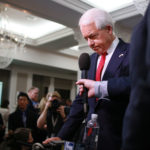 SAN DIEGO, CA-MAY 5: California GOP Gubernatorial Candidate John Cox gives an interview during an election eve party at the U.S. Grant Hotel in San Diego, California on Tuesday, June 5, 2018.  Cox, a businessman from Rancho Santa Fe, CA, is the leading Republican candidate for Governor of California(Photo by Sandy Huffaker/Getty Images)