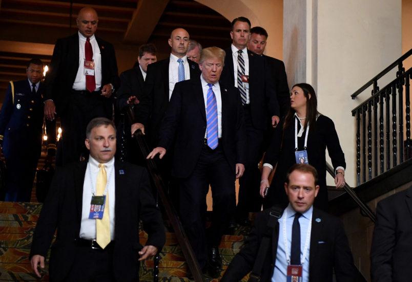 Trump jokes Sarah Huckabee Sanders having