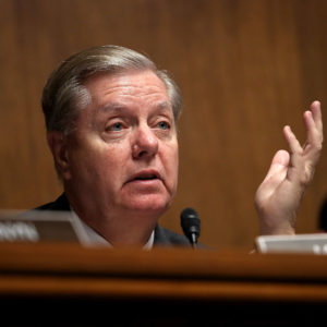 WASHINGTON, DC - JUNE 19:  Sen. Lindsey Graham questions U.S. Citizenship and Immigration Services Director L. Francis Cissna during a Senate Judiciary Committee hearing June 19, 2018 in Washington, DC. The committee heard testimony on recent immigration issues relating to border security and the EB-5 Investor Visa Program.  (Photo by Win McNamee/Getty Images)