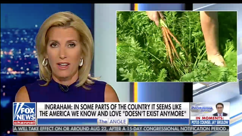 Laura Ingraham opens her show with a direct message to white nationalists