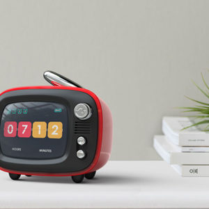 The Lofree QTV Wireless Speaker combines the convenience of a wireless speaker with the nostalgic look of a retro television.