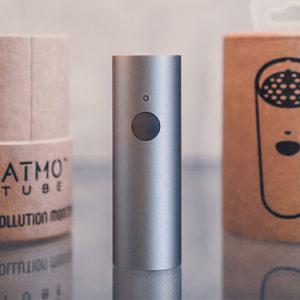 The Atmotube 2.0 Portable Air Quality Monitor is small enough to tote around in your purse or pocket, yet mighty enough to give you detailed readings on multiple air quality components.