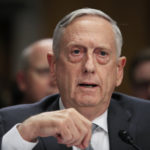 "Secretary of Defense Jim Mattis, testifies during a Senate Foreign Relations Committee hearing on ""The Authorizations for the Use of Military Force: Administration Perspective"" on Capitol Hiill in Washington, Monday, Oct. 30, 2017.  (AP Photo/Manuel Balce Ceneta)"