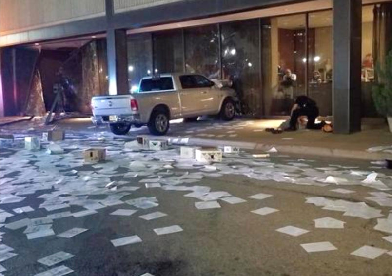 Man intentionally rams truck into Dallas TV news station, police say