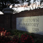 The entrance to the Georgetown Preparatory School Bethesda, Md., is shown, Wednesday, Sept. 19, 2018.  (AP Photo/Manuel Balce Ceneta)