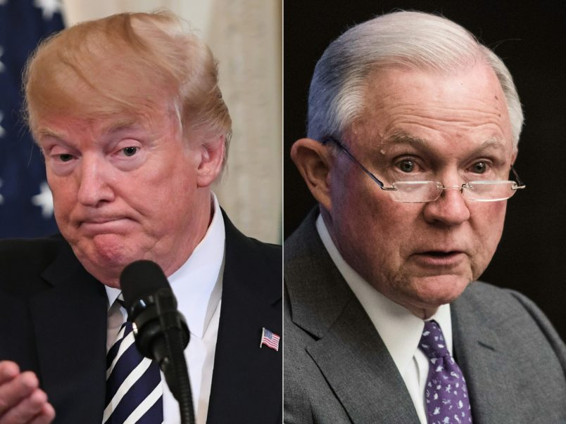 Jeff Sessions threatens Republican midterm hopes with indictments, Trump tweets