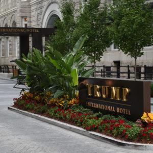 WASHINGTON, DC  - JULY 26: The main entrance drive way for the Trump International Hotel in Washington, D.C., July 26, 2018. (Astrid Riecken For The Washington Post)