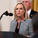 WASHINGTON, DC, UNITED STATES - 2018/08/20: Kirstjen Nielsen, Secretary of Homeland Security, at the Salute to Heroes of the Immigration and Customs Enforcement and Customs and Border Protection in the East Room of the White House on August 20, 2018. (Photo by Michael Brochstein/SOPA Images/LightRocket via Getty Images)