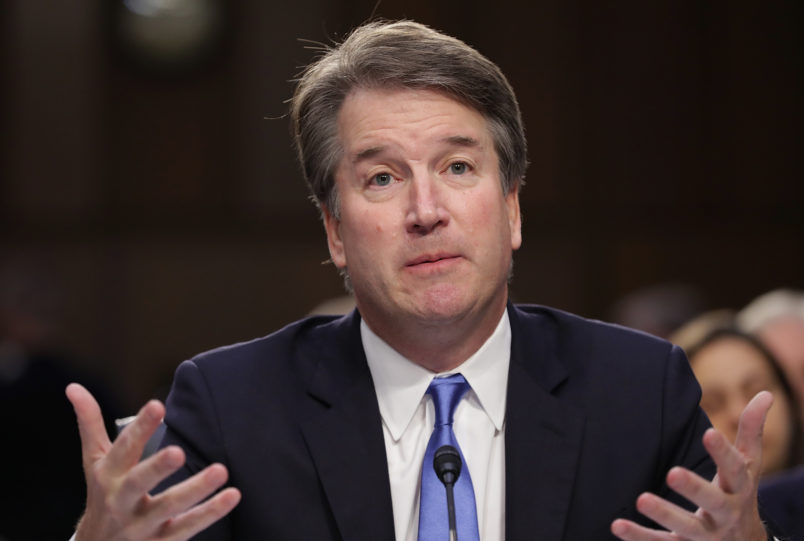 Brett Kavanaugh sidesteps Senate questions on Roe v Wade