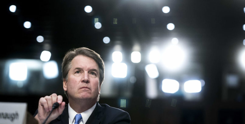 Woman's accusation roils fight over Kavanaugh nomination