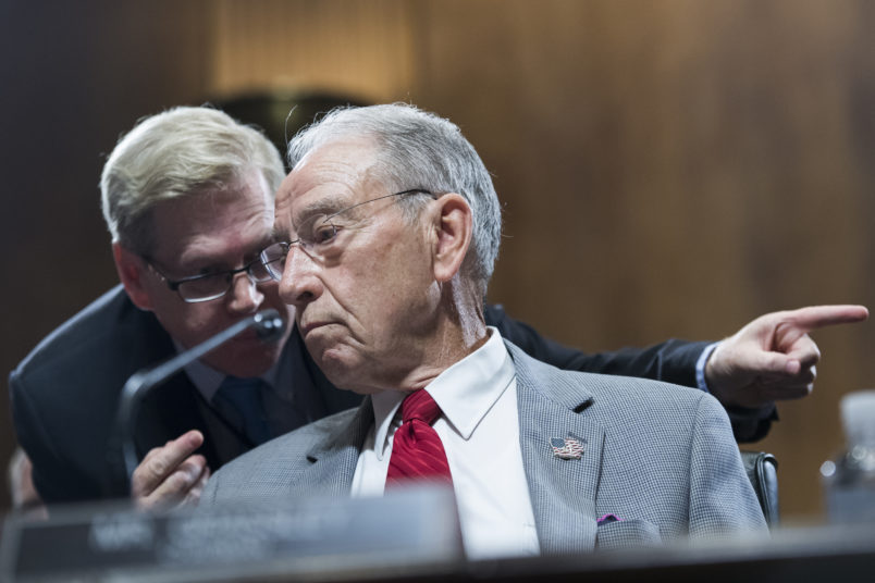 UNITED STATES- SEPTEMBER 13 Chairman Charles Grassley R-Iowa conducts a markup of the Senate Judiciary Committee in Dirksen Building