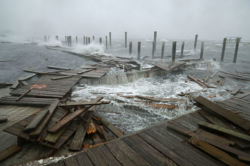 Florence weakens to Category 1, but days of rain and wind underway