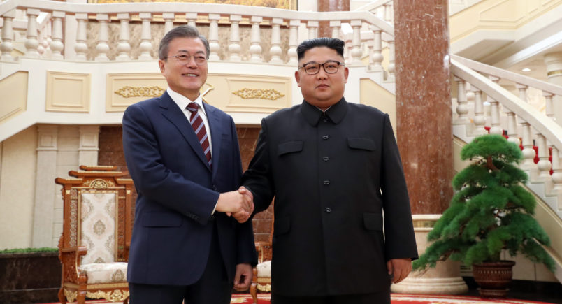 Moon, Kim Talk in Private Amid Search for Nuke Breakthrough