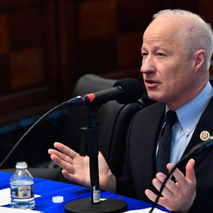 WASHINGTON, DC - MAY 16:  Congressman Mike Coffman (R-CO) appears on Urban View's Helping Our Heroes Special, moderated by SiriusXM host Jennifer Hammond at the Cannon Building on Capitol Hill on May 16, 2018 in Washington, DC.  (Photo by Larry French/Getty Images for SiriusXM)
