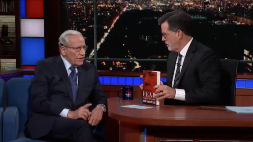 Bob Woodward tells Stephen Colbert what shocked him most about Trump
