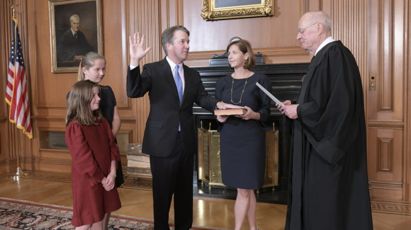 Brett Kavanaugh is sworn in to USA supreme court