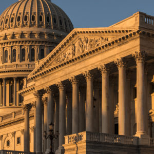 The Capitol is seen at sunrise  in Washington, Monday, Oct. 1, 2018. (AP Photo/J. Scott Applewhite)