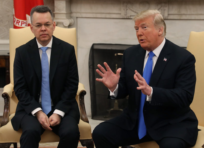 Trump welcomes back Pastor Andrew Brunson from Turkey in DC