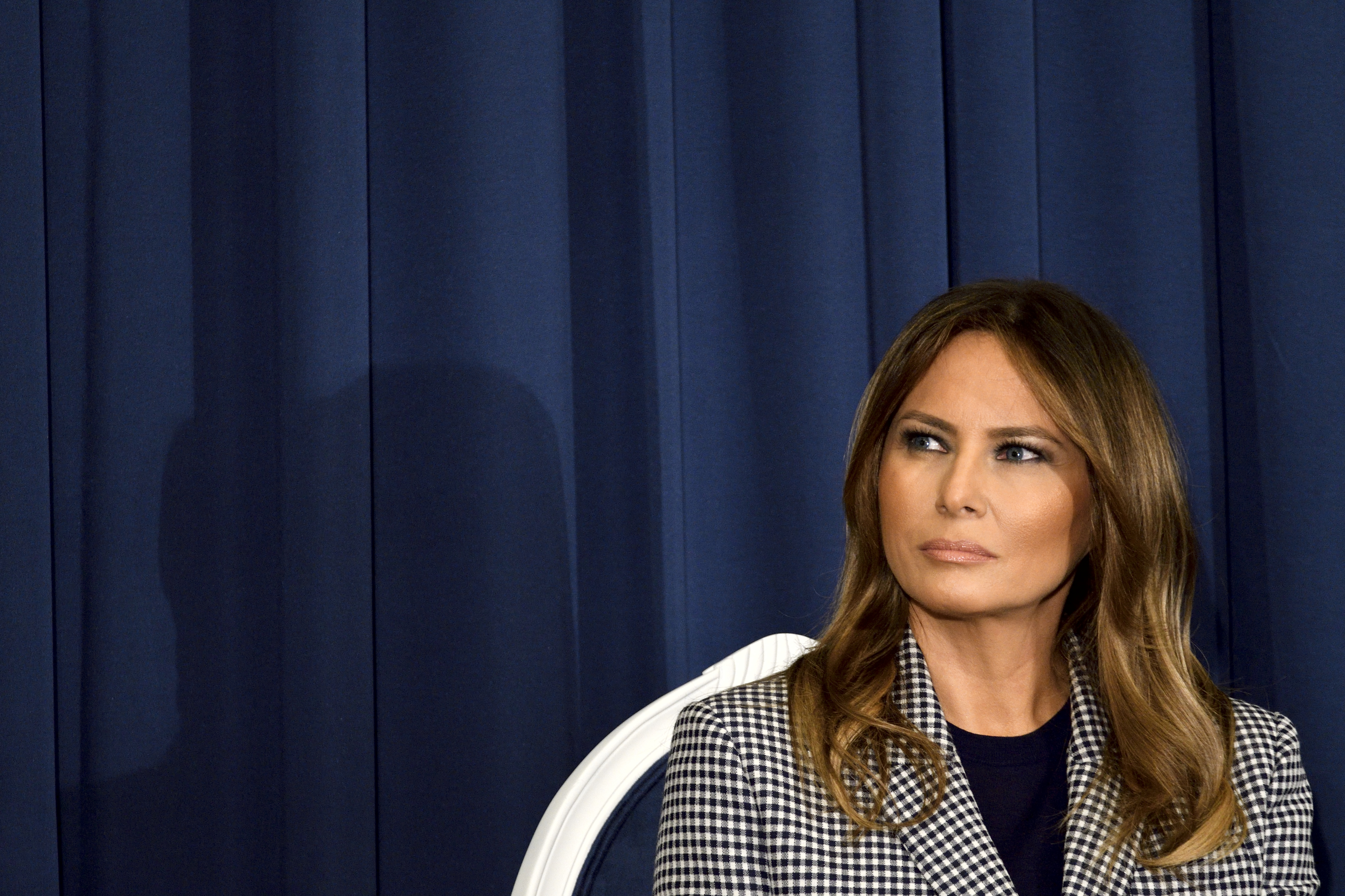First Lady Melania Trump attends the conference on Neonatal Abstinence Syndrome (NAS) at Thomas Jefferson University Hospital, in Philadelphia, PA, on October 17, 2018. (Photo by Bastiaan Slabbers/NurPhoto)