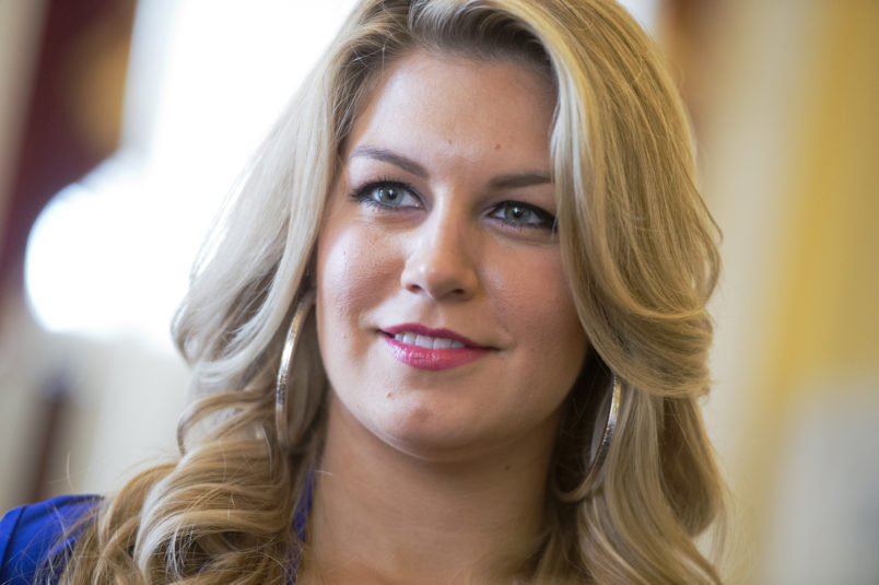 UNITED STATES - JUNE 11: Miss America 2013 Mallory Hagan attends a briefing in the Capitol on the Miss America Organization's education initiatives for young women including Science, Technology, Engineering and Mathematics (STEM) education. (Photo By Tom Williams/CQ Roll Call)
