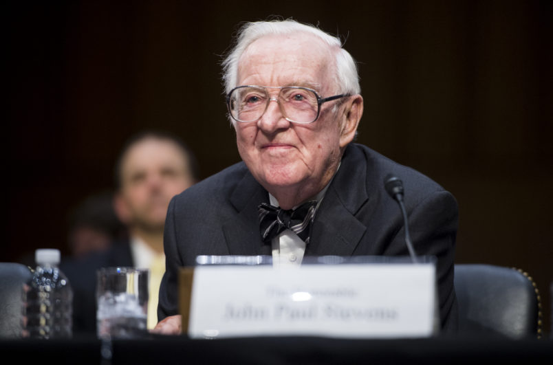 Retired Justice Stevens opposes Kavanaugh for Supreme Court