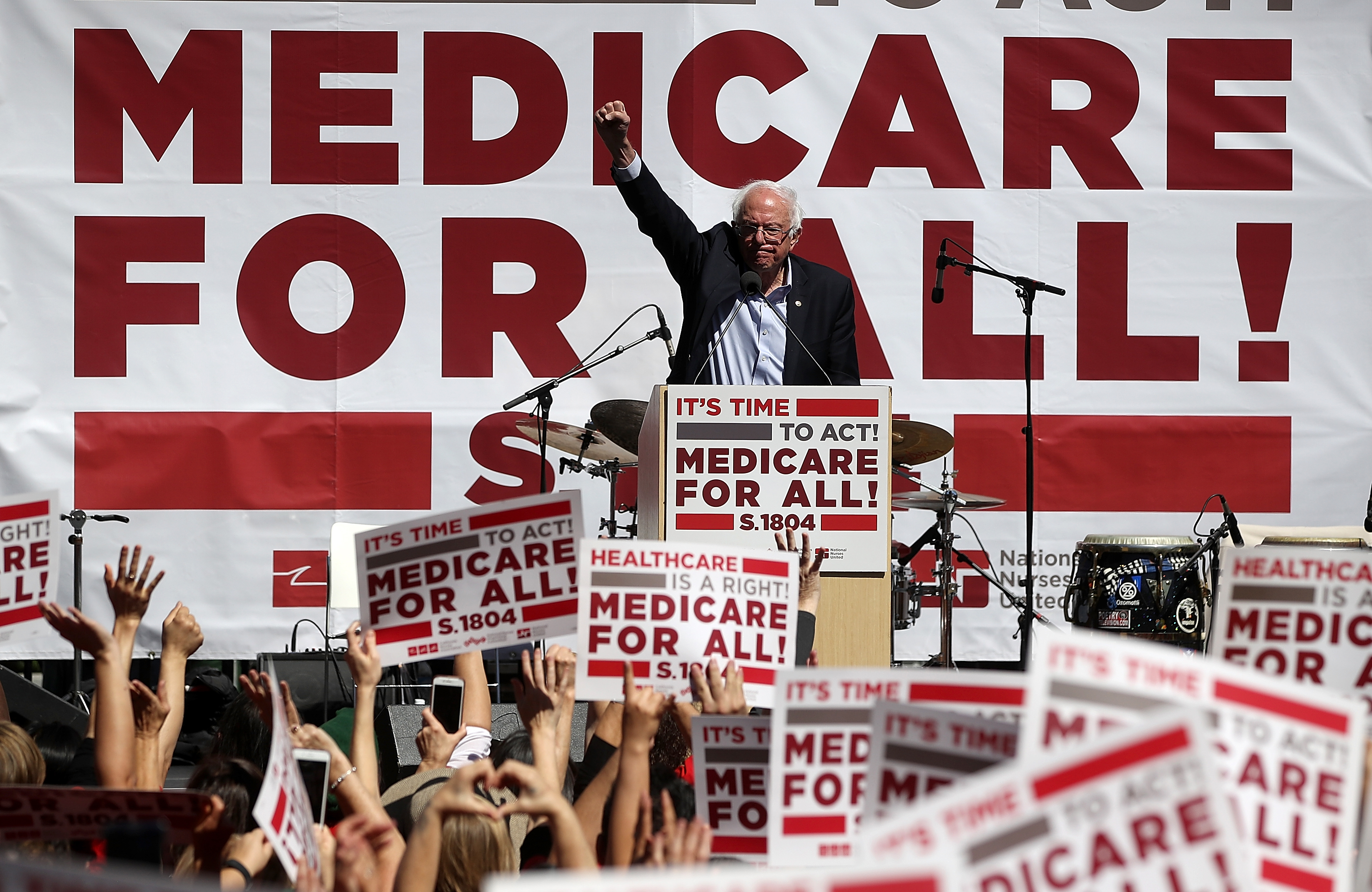 U.S. Sen. Berni Sanders (I-VT) speaks during a health care rally at the  2017 Convention of the California Nurses Association/National Nurses Organizing Committee on September 22, 2017 in San Francisco, California. Sen. Bernie Sanders addressed the California Nurses Association about his Medicare for All Act of 2017 bill.