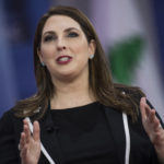 UNITED STATES - FEBRUARY 23: Ronna McDaniel, chairwoman of the Republican National Committee, is interviewed during the Conservative Political Action Conference at the Gaylord National Resort in Oxon Hill, Md., on February 23, 2018. (Photo By Tom Williams/CQ Roll Call)