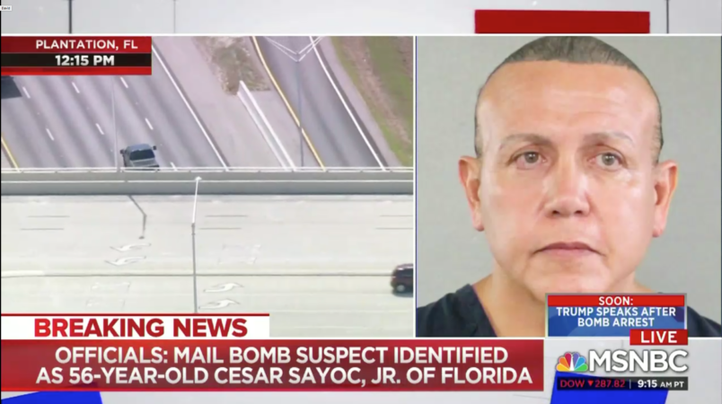 Pipe bomb suspect Cesar Sayoc due in court
