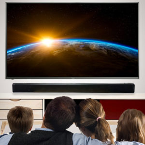 The Bluetooth Home Theater Sound Bar raises the bar for sound quality on flat screen TVs.