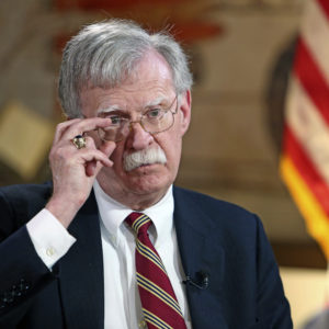 The National Security Advisor of the United States, John Bolton talks to Miami Herald on Latin American policy at the National Historic Landmark Miami Freedom Tower on November 1, 2018.