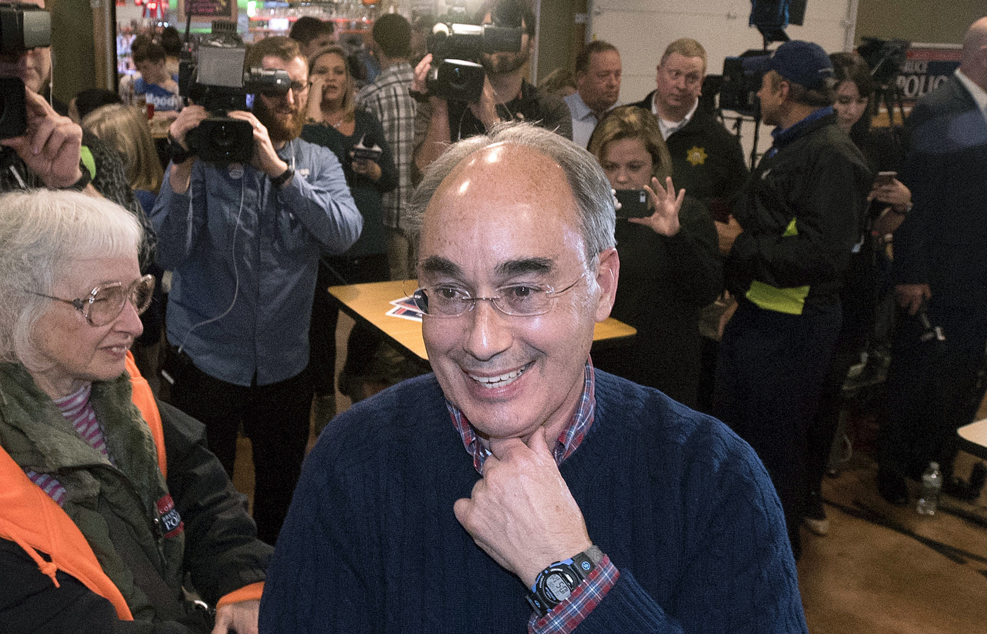 BANGOR, MAINE � 11/06/2018 � Rep. Bruce Poliquin is at his campaign party at Dysart�s in Bangor Tuesday night.Gabor Degre | BDN /// -- *Lindsay Putnam*Digital Engagement Editorm: 207.641.7271 t: @lindsay_putnam lputnam@bangordailynews.combangordailynews.com
