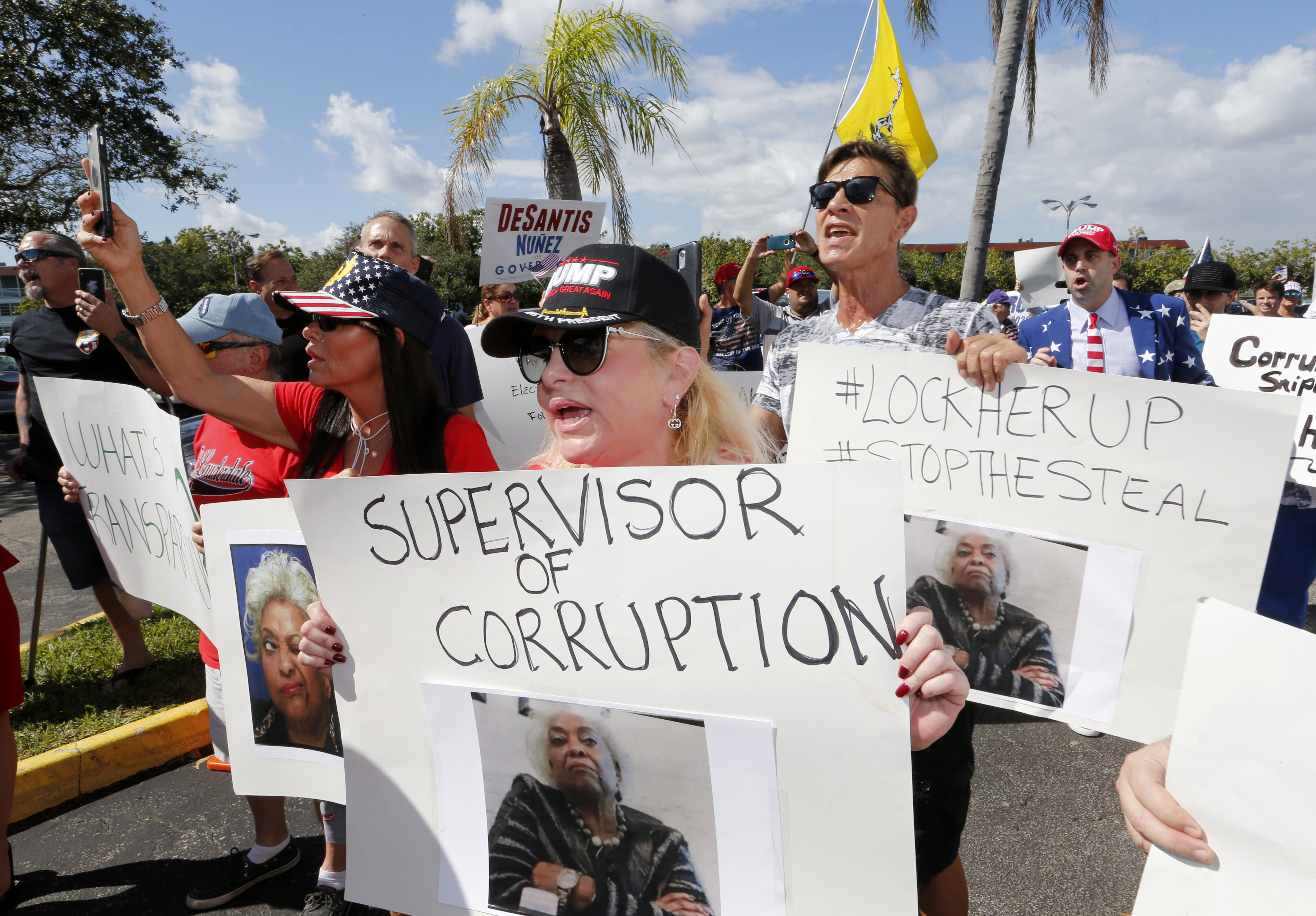 GOP Protest Erupts Outside Broward Elections Office Amid Vote Count