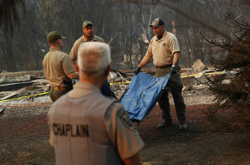 California wildfire death toll climbs higher as six more bodies found