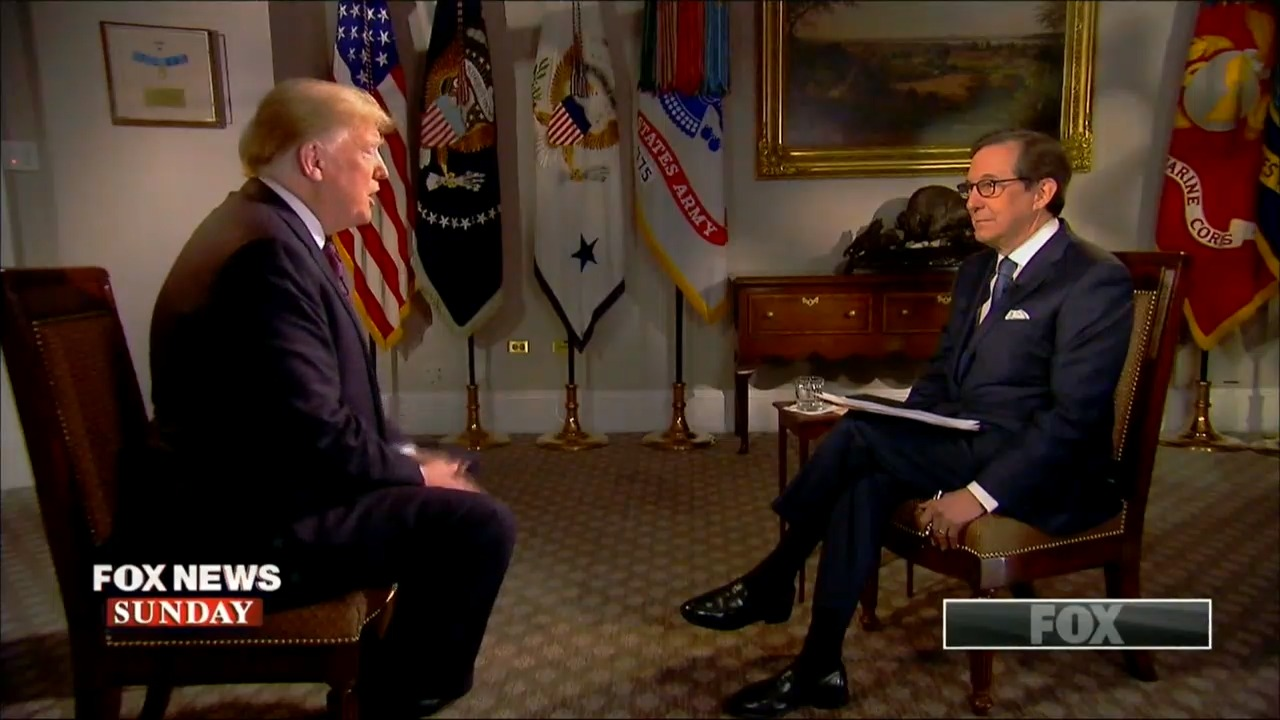 Chris Wallace Presses Trump On Terms 'Enemy Of The People' And 'Fake News'