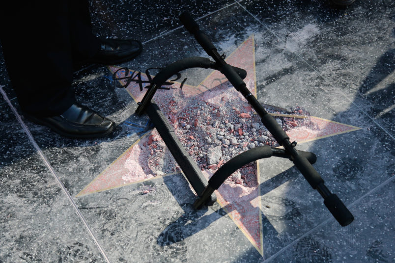 Man sentenced for smashing Trump's Hollywood star with ax | AP entertainment